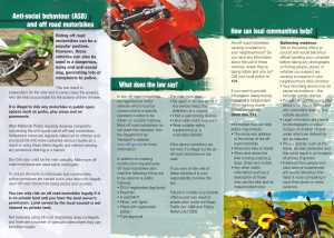 Off Road bikes ,ASB & the Law