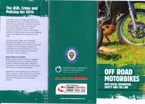 Off Road bikes ,ASB & the Law1